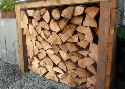 A well-stocked woodstore